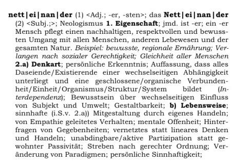 Definition netteinander